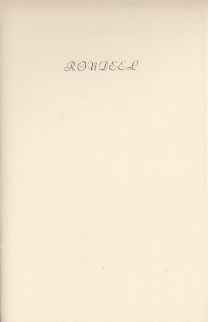 BROERSMA, ROUKE - Rondeel voor de jaarwisseling.
