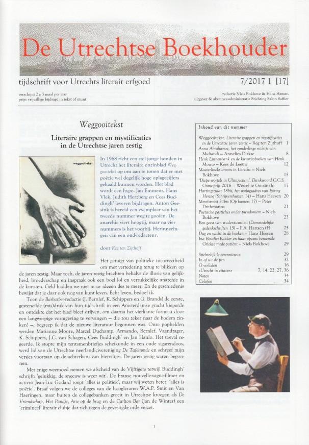 BOKHOVE & HANS HEESEN (RED.), NIELS - De Utrechtse Boekhouder, tijdschrift voor Utrechts literair erfgoed. Nr.17.